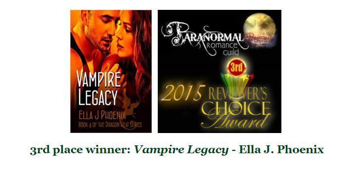 VAMPIRE LEGACY by Ella J Phoenix 3rd place win