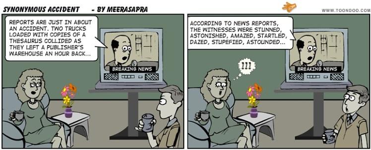 Thesaurus cartoon